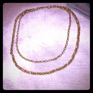 Stunning KT Collection Double Chain Necklace